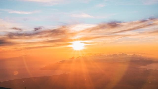 sunset vitamin d sunshine